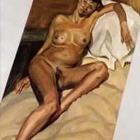 Kate Moss, modela desnuda para Lucian Freud. Londres, 2002.