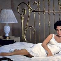 """Elizabeth Taylor en 1957 en la versión para cine que el gran Richard Brooks realizó de la célebre obra de teatro de Tennessee Williams """"La gata sobre el techo de zinc caliente"""". Junto a ella nada menos qu un PAUL NEWMAN en el esplendor de su belleza viril."""
