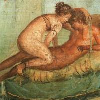 Fresco de las termas de Pompeya, destruída en el 79 d. de C. Hoy en museo de Nápoles.