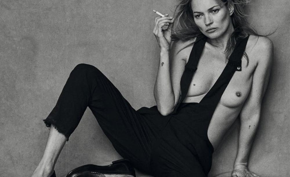 PETER LINDBERGH con Kate Moss para Vogue Italia.