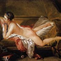 Boucher. L'Odalisque Blonde. Marie-Louise O'Murphy (maîtresse de Louis XV).