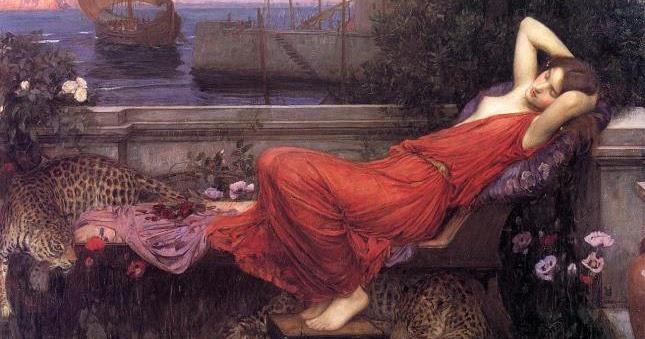 Ariadne, 1898, de John William Waterhouse. (De B.B. Art Blog)