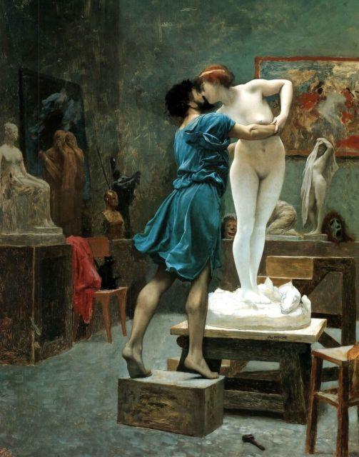 """JEAN-LEON GEROME. """"Pigmalion y Galatea"""" (1890). MUSEO METROPOLITANO DE NUEVA YORK."""