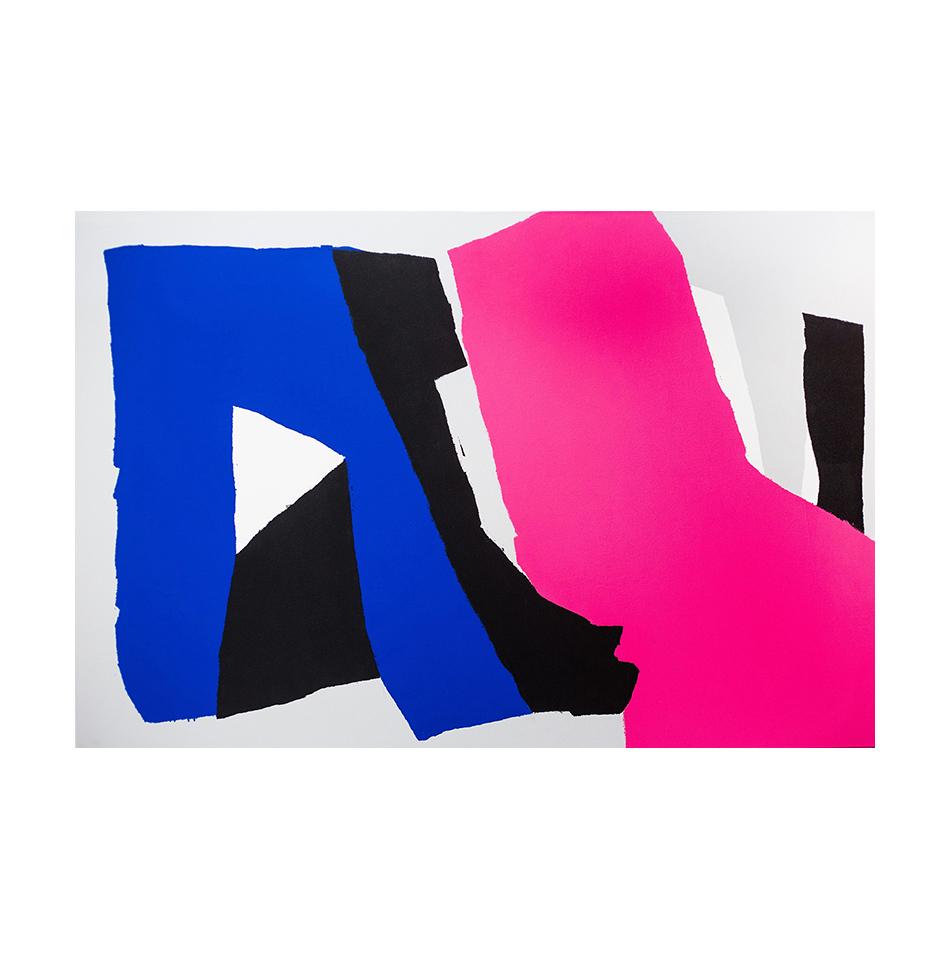 """""""N20"""" (2015), obra de JOHN MC CAM. Ver su sitio web: http://www.johnmccam.com/artworks.html y también https://www.mundoflaneur.com/arte/colores-y-formas-por-john-mc-cam/"""