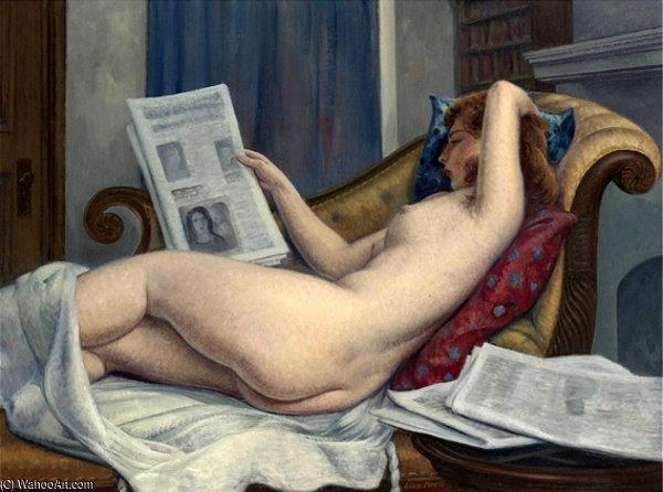 """La lectora (""""El diario de la mañana""""), de Léón Kroll."""