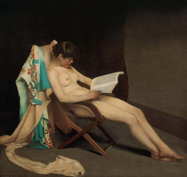 """""""La lectora"""", de Theodore Roussel (1847)"""