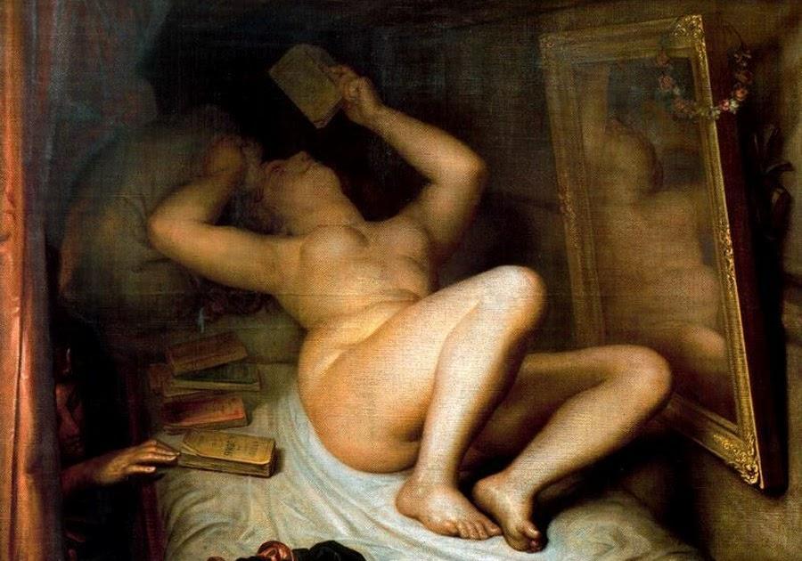 """""""LA LECTORA DE NOVELAS"""" DE ANTOINE WIERTZ (1853)"""