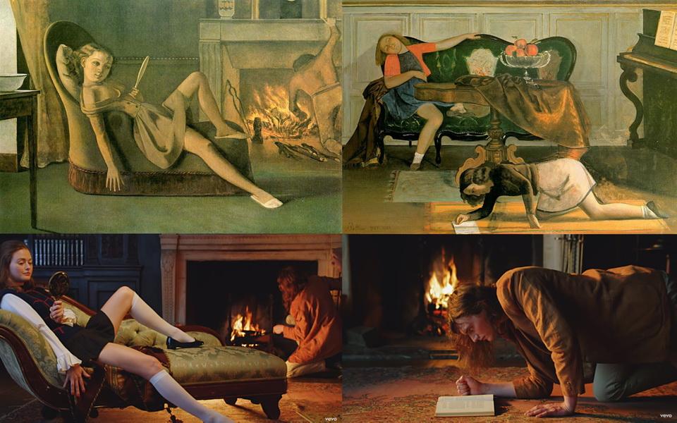 INSPIRACIÓN EN BALTHUS, PINTOR CLAVE DEL SIGLO XX. Variantes sobre una de sus obras más conocidas y celebradas.