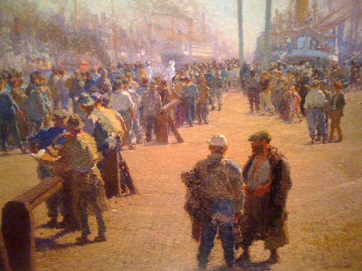 PIO COLLIVADINO (1860-1945), OTRO ARTISTA DE LA GENERACIÓN DEL (1880), CON SINGULAR PERCEPCIÓN SOCIAL DE LOS HUMILDES, EN UN REGISTRO SOBRE EL PUERTO, SU GENTE POPULAR Y LOS TRABAJADORES MÁS PRECARIOS E INMIGRANTES.