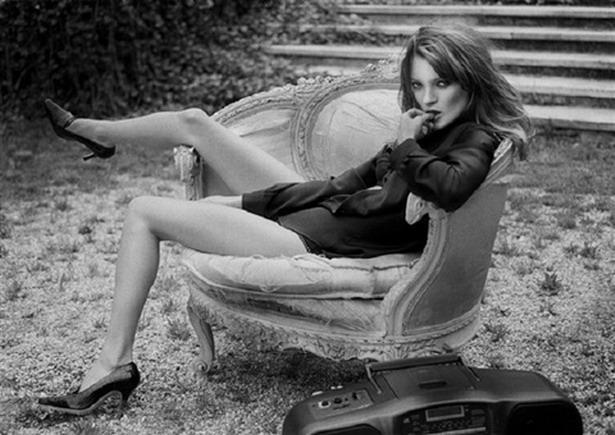 Sante D´Orazio fotografía a Kate Moss