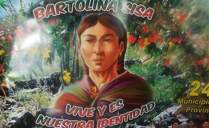 BARTOLINA SISA VARGAS, MARTIRIZADA CON DESCUARTIZAMIENTO POR EL CONQUISTADOR Y COLONIZADOR IMPERIAL. INDÍGENA AYMARÁ, BOLIVIANA HOY. BOLITA.