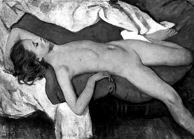 2 chica durmiente 1923 Zinaida Yyevgenyevna_n