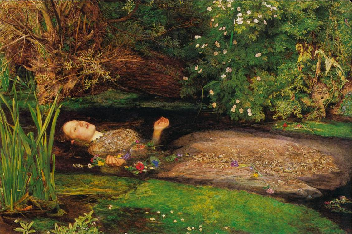 John Everett Millais, Ofelia, 1852 - El Imagen9 (1)