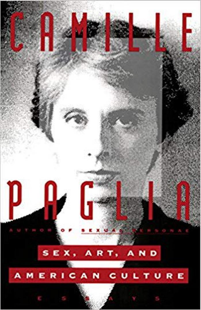 CAMILLE PAGLIA y uno de sus libros feministas