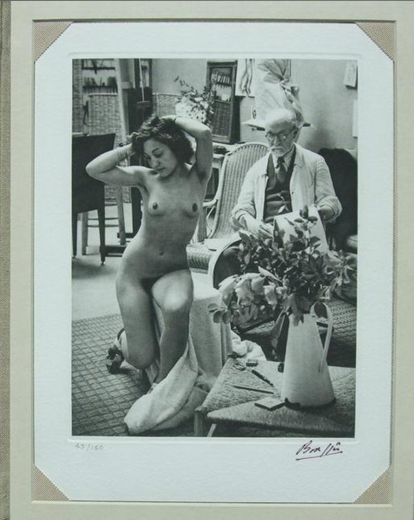 """""""LOS ARTISTAS DE MI VIDA"""", un libro con imágenes del maestro húngaro BRASSAI con la célebre imagen del pintor MATISSE Y una de sus modelos desnudas"""