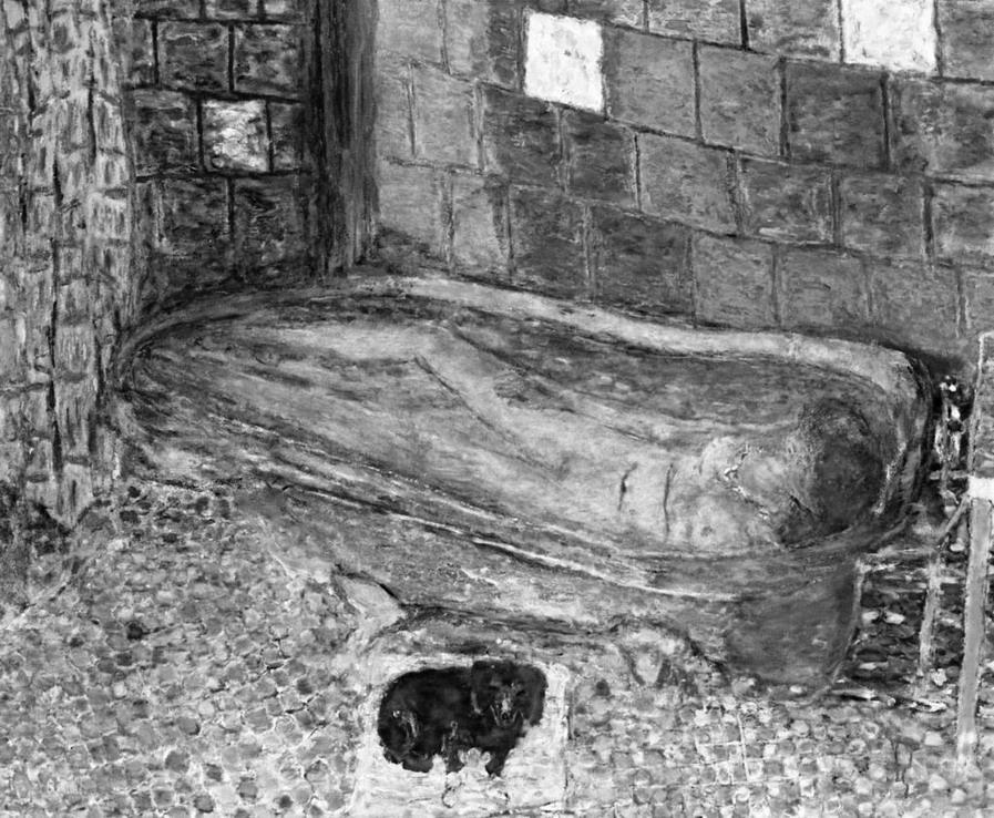 PIERRE BONNARD. El baño, 1939-1941. Su escena obsesiva. un intento de abrazar lo inapresable.